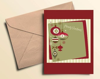 Vintage Christmas Note Cards - Set of 10 With Envelopes