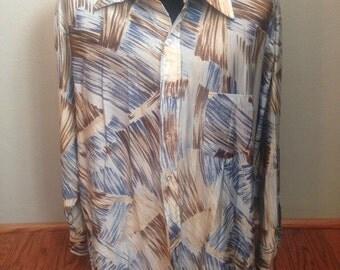 1970's Nylon Disco Shirt