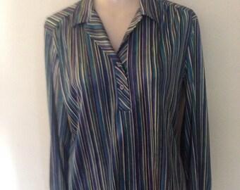 1970's Pin Stipe Polyester Shirt
