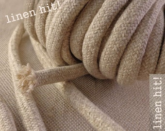 3 meters Linen Cotton Rope 10mm Raw O With Filling Natural Rope for Crafts Jewellery Decorations DIY Project