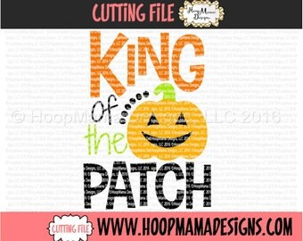 King of The Patch with Pumpkin Halloween SVG DXF eps and png Files for Cutting Machines Cameo or Cricut