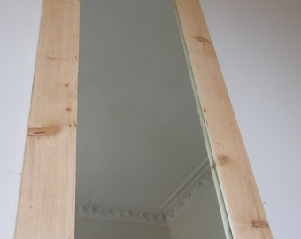 Reclaimed Wood Mirror Frame & Mirror