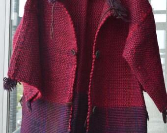 Hand made Wool Sweater/coat