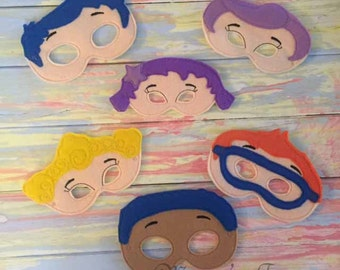 Deluxe Felt Mask -- Kids Mask – Inspired by Bubble Guppies -- Costume – Dress-Up -- Halloween -- Pretend Play -- Party Favor – MMTM0023