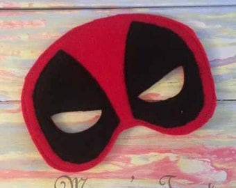 Super Hero Mask - Deluxe Felt Mask -- Kids Mask – Costume – Dress-Up -- Halloween -- Pretend Play -- Party Favor