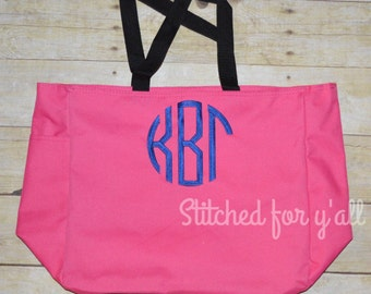 Sorority tote bag embroidered/ Greek book tote/ Sorority canvas tote