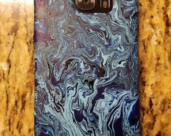 Handpainted cell phone case.
