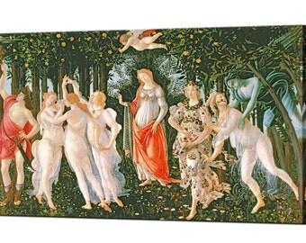 La Primavera Sandro Botticelli Canvas Print Home Decor Italian Renaissance Fine Art Ready To Hang Interior Design Wall Art Print Canvas Art