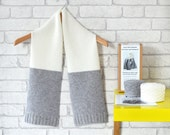 Luxury Scarf Knitting Kit - 2 Colours Available