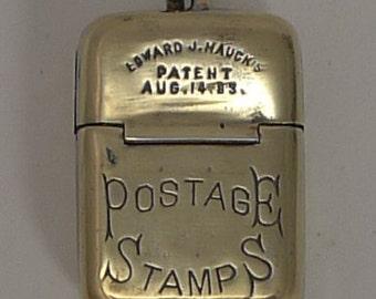 Edward J. Hauck's Vesta - Form of Postage Stamp Case