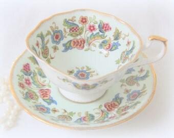 Vintage Paragon Antique Series Fine Bone China 'Stuart' Tea Cup and Saucer, Numbered