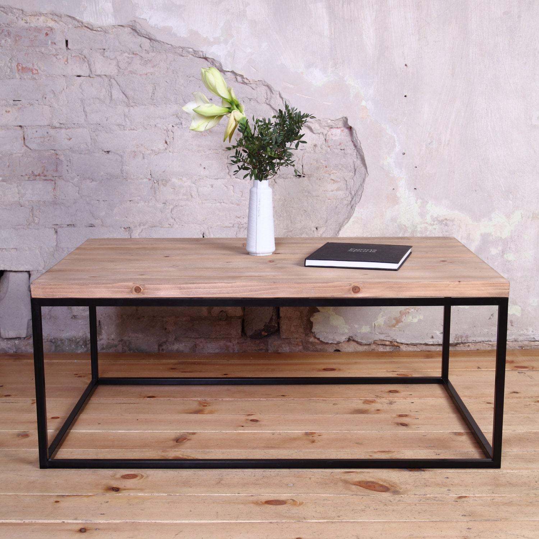 Industrial Metal Framed Coffee Table