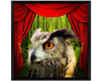 Surreal Art Print, Animal Art Print, Magic Owl, Owl Art, Surrealism, Dream Art Print