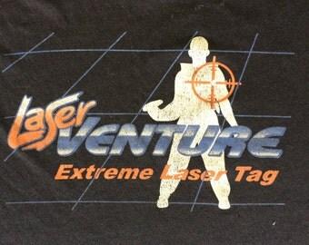 Vintage 1990's Laser Venture Laser Tag T-Shirt Men's M