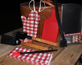 Deluxe Father's Day BBQ Grilling 10 pc Set