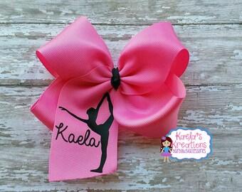 Gymnastic Hair Bows, Dance Hair Bows, Name Gymnastic Hair Bows, Dance Bows, Gymnastic Bows, Custom Name Hair Bows, Gymnastic Name Hair Bows.