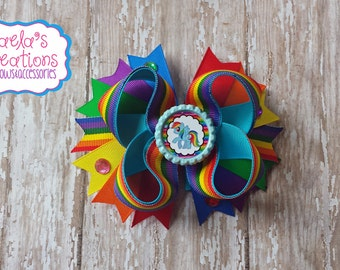 Rainbow Dash Hair Bows,Rainbow Dash Bows,Rainbow Dash Party,Rainbow Dash Birthday,Rainbow Hair Bows.