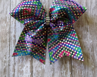 Colorful Cheer Bows, Colorful Cheer Hair Bows,Sparkly Colorful Cheer Bows,Colorful Sparkly Cheer Hair Bows,Sparkly Cheer Bows.