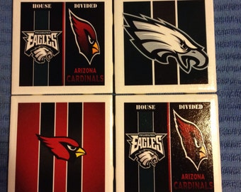 Choose your team! House Divided Football NFL Coasters - Ceramic Tile Set of 4