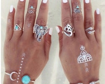 Boho elephant stacking rings