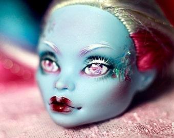 Monster High OOAK Abbey repaint custom doll HEAD!!