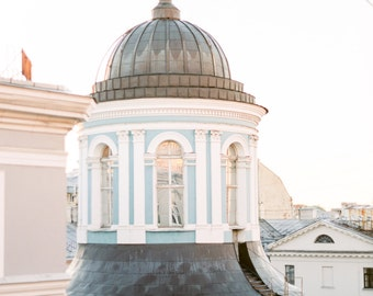 Armenian Cathedral Rooftop Photo Print on 120mm FILM! St Petersburg, Russia, Leningrad, Architecture, Church, Contax 645, Photograph