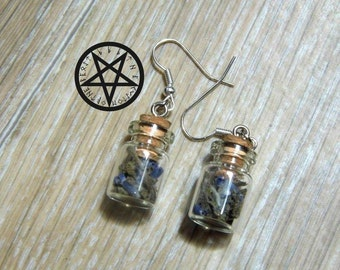 Earrings l herbalist vials
