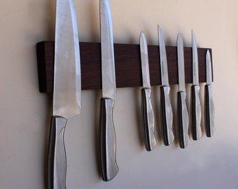 Knife Rack, Magnetic Knife Rack, Knife Holder, Wood Knife Holder