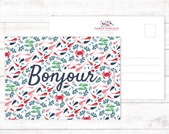 Postcard Bonjour