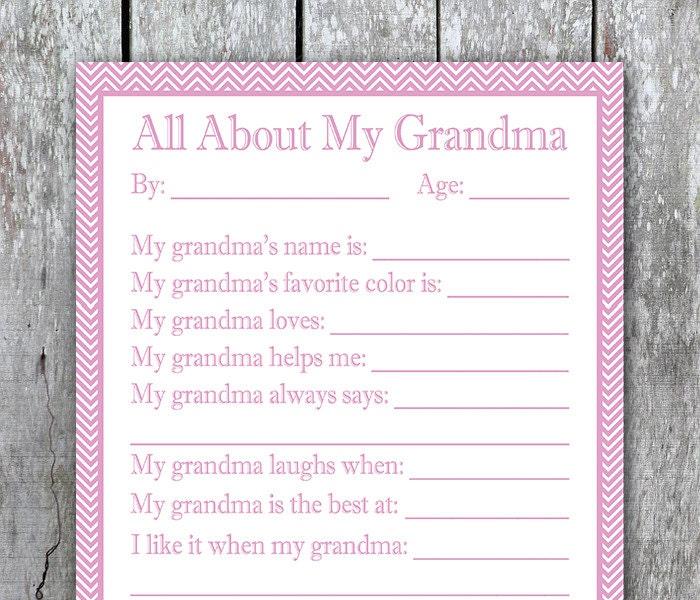 Trust image regarding all about my grandma printable