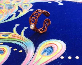 Copper ring, copper jewelry, handmade ring