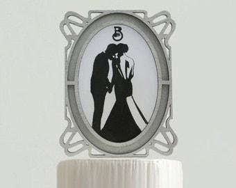 Vintage Art Nouveau Wedding Cake Topper - #2  - 6 in. Wide