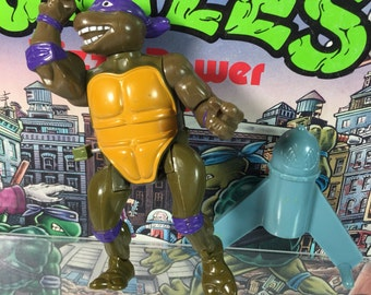 Vintage 1989 Donatello Wacky Action Don TMNT Teenage Mutant Ninja Turtles action figure with weapons COMPLETE