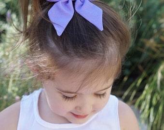 Purple Sailor Bow - Sailor Bow - Sailor Bow Clip - Sailor Bow Hair bow - Purple Sailor Bow Clip - Purple Bow - Fabric Bow
