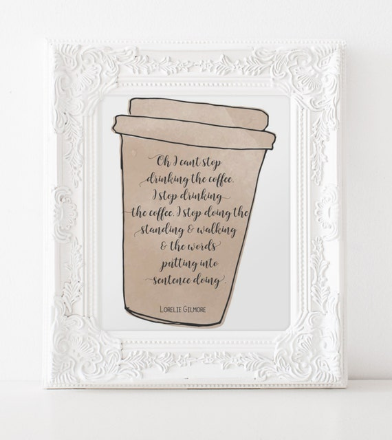 Free Printable Coffee Quotes: Gilmore Girls Print Coffee Quote Printable By