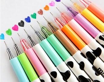 Scrapbook Pen 0.38 mm Milky Pattern 12 Color