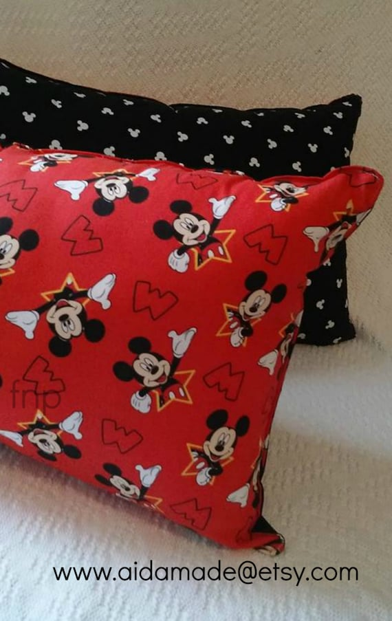 Etsy Throw Pillow Sets : Items similar to Mickey Mouse Throw Pillow, Red Mickey Mouse Pillow, Kids Bedroom Decor, Nursery ...