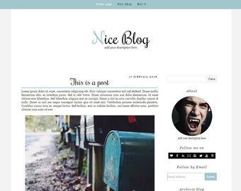 Simple Blogger Template – Nice Blog (green edition)