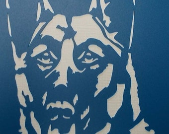 German Shepherd Stencil