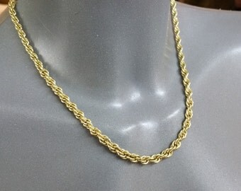 Massive necklace gold plated necklace 60s MK123
