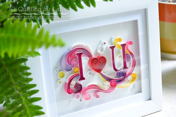 Quilling Art Quilling Wall Art Quilling Paper Art Love Heart