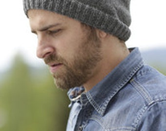 Mans beanie, wool, alpaca hat, hand knit, gift for him, low price