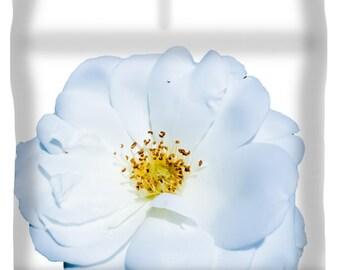 Unique Open Blue Rose Duvet Cover,Blue and White Designer Duvet,King,Queen,Full,Twin,Blue Bedroom Decor,Home Interior,Floral Comforter Cover