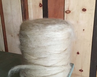 100% Pygora Roving - A/B Rated (sold by the ounce)