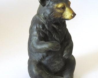 """Vintage Uctci Japan 5"""" BLACK BEAR Figurine"""