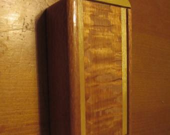 yellowheart and lacewood slide top box