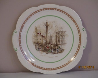 Swinnertons The Monument of London 1840 Majestic Vellum Plate Staffordshire England