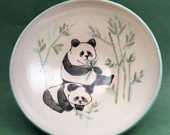 Handmade Pottery Panda Bowl