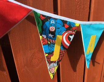 Marvel superheroes personalised bunting