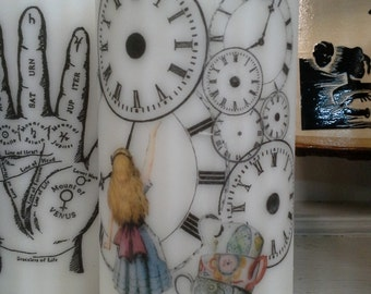 Alice with Clocks Wax Candle